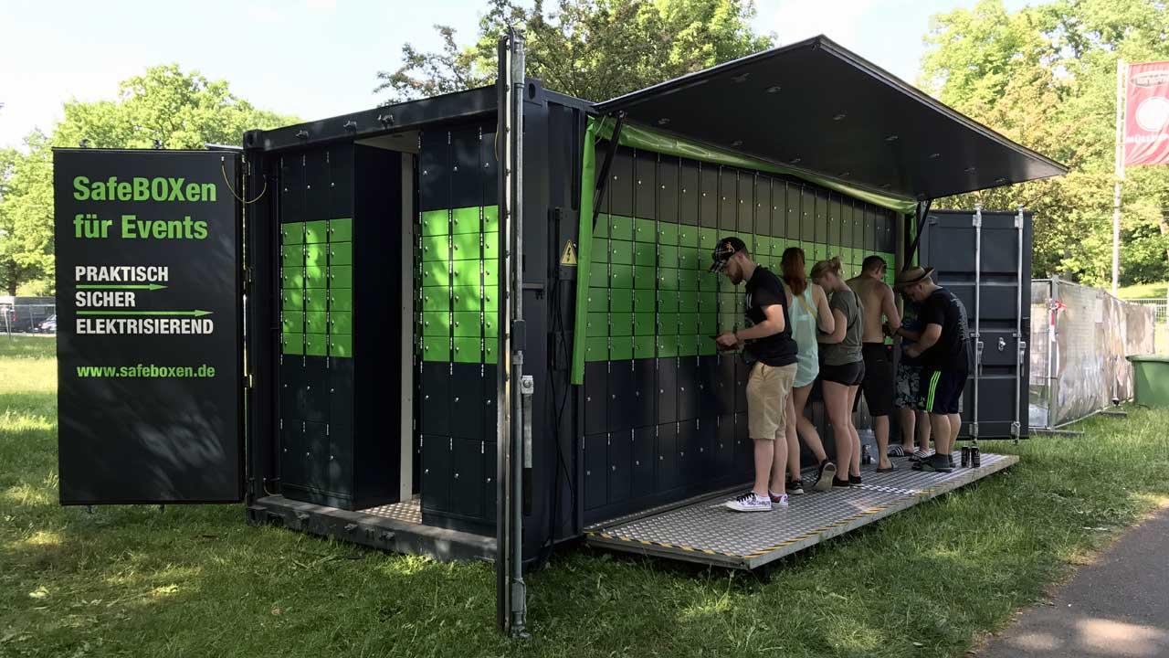 SafeBOXen für Events - Praktisch, sicher, elektrisierend